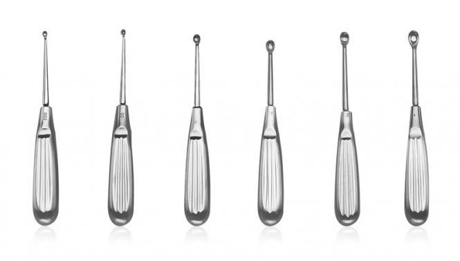 Artroskopowe łyżeczki Volkmann